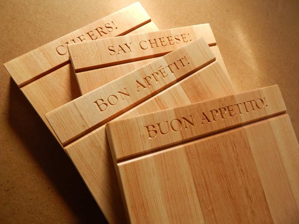 Set of four cheeseboards