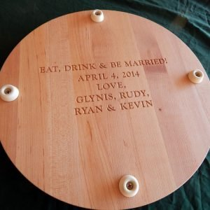Eat, Drink and be Married Rounf Cutting Board