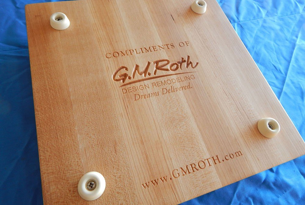 Compliments of Square Cutting Board