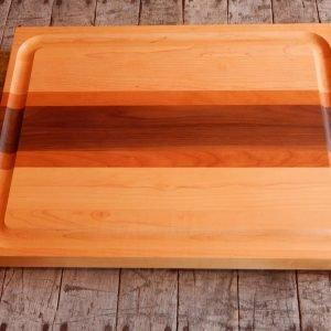 Racing Stripe Cutting Board with Trough