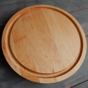 """18"""" Round Cutting Board With Trough"""