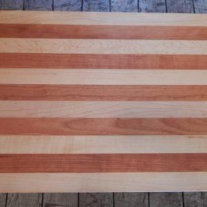 Flat Maple/Cherry Stripe Cutting Board