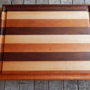 Tricoleur Cutting Board with Trough